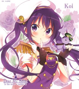 Rating: Safe Score: 40 Tags: gochuumon_wa_usagi_desu_ka? koi tedeza_rize uniform User: aaayu