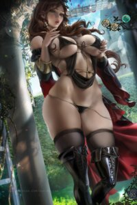 Rating: Questionable Score: 69 Tags: bikini breast_hold cleavage dorothea_arnault fire_emblem_three_houses official_watermark sakimichan swimsuits thighhighs User: kiyoe
