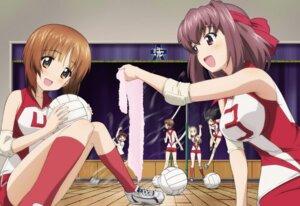 Rating: Safe Score: 35 Tags: girls_und_panzer gym_uniform isobe_noriko isuzu_hana kawanishi_shinobu kondou_taeko nishizumi_miho sasaki_akebi towel yoshida_nobuyoshi User: fatete