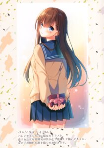 Rating: Safe Score: 16 Tags: seifuku sweater toosaka_asagi valentine User: Radioactive