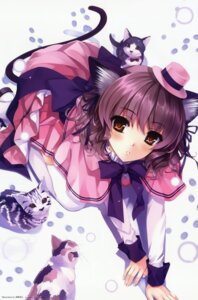 Rating: Safe Score: 190 Tags: animal_ears fixed misaki_kurehito neko nekomimi tail thighhighs User: Drich007