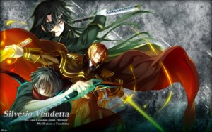 Rating: Safe Score: 9 Tags: eyepatch light silverio_vendetta sword tagme uniform wallpaper weapon User: moonian