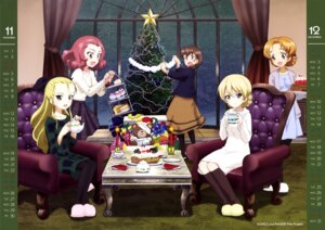 Rating: Safe Score: 25 Tags: assam calendar christmas darjeeling dress girls_und_panzer orange_pekoe pantyhose rosehip rukuriri sweater User: drop