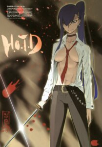 Rating: Questionable Score: 46 Tags: busujima_saeko highschool_of_the_dead no_bra open_shirt sword tanaka_masayoshi User: Radioactive