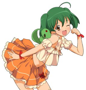 Rating: Safe Score: 12 Tags: a1 ai-kun initial-g macross macross_frontier ranka_lee thighhighs User: Radioactive