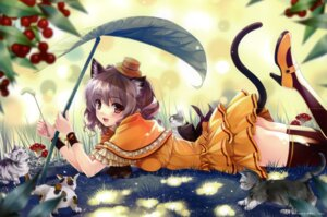 Rating: Safe Score: 86 Tags: animal_ears crease dress misaki_kurehito neko nekomimi tail thighhighs User: fireattack