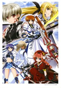 Rating: Safe Score: 10 Tags: armor cypha_of_huckebein dress eyepatch fate_testarossa gothic_lolita higa_yukari lolita_fashion mahou_senki_lyrical_nanoha_force mahou_shoujo_lyrical_nanoha subaru_nakajima sword takamachi_nanoha tohma_avenir uniform vita weapon User: Radioactive