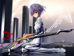 Rating: Safe Score: 34 Tags: ayanami_rei bodysuit guitar lin+ neon_genesis_evangelion User: Riven
