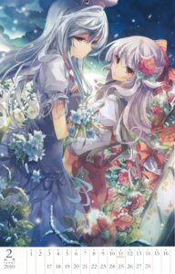 Rating: Safe Score: 30 Tags: calendar crease dress fruit_punch fujiwara_no_mokou kamishirasawa_keine touhou User: blooregardo