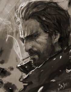 Rating: Safe Score: 14 Tags: lishushu1996 mccree_(overwatch) monochrome overwatch reinhardt_(overwatch) signed smoking User: mash