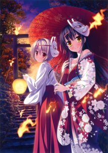 Rating: Safe Score: 55 Tags: miko yamakaze_ran yukata User: WtfCakes
