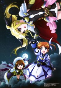 Rating: Safe Score: 34 Tags: dress fate_testarossa kawamoto_miyoko mahou_shoujo_lyrical_nanoha mahou_shoujo_lyrical_nanoha_reflection takamachi_nanoha wings yagami_hayate User: drop
