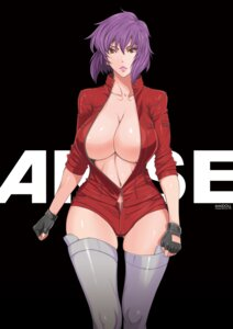 Rating: Questionable Score: 60 Tags: cleavage fei ghost_in_the_shell kusanagi_motoko maidoll no_bra open_shirt thighhighs User: Madao