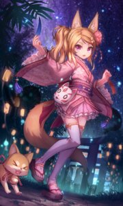 Rating: Safe Score: 65 Tags: animal_ears kitsune lolita_fashion tail thighhighs wa_lolita yellowpaint. yukata User: Mr_GT