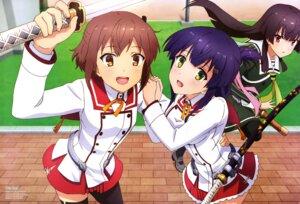 Rating: Safe Score: 34 Tags: etou_kanami juujou_hiyori mimata_hiroshi pantyhose seifuku sword thighhighs toji_no_miko yanase_mai_(toji_no_miko) User: drop