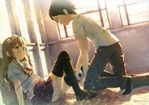 Rating: Safe Score: 59 Tags: azuki_azusa hentai_ouji_to_warawanai_neko kantoku seifuku thighhighs yokodera_youto User: Twinsenzw