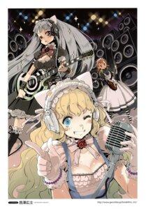 Rating: Safe Score: 12 Tags: animal_ears cleavage guitar headphones lolita_fashion murasawa_hiroshi nekomimi User: Aurelia