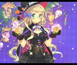 Rating: Safe Score: 49 Tags: cleavage gothic_lolita halloween lolita_fashion toujou_sakana witch User: Mr_GT