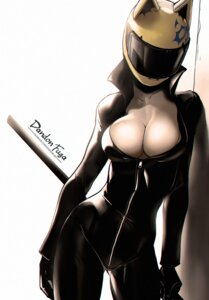 Rating: Questionable Score: 50 Tags: bodysuit celty_sturluson dandon_fuga durarara!! no_bra open_shirt weapon User: NotRadioactiveHonest