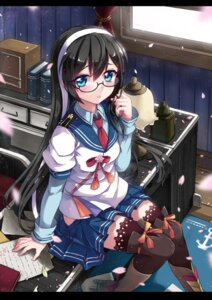 Rating: Safe Score: 57 Tags: abyss_of_parliament kantai_collection megane ooyodo_(kancolle) seifuku thighhighs User: Mr_GT
