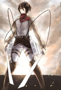 Rating: Safe Score: 13 Tags: kyouya mikasa_ackerman shingeki_no_kyojin sword uniform User: charunetra