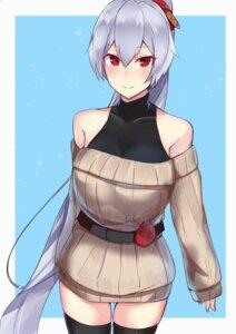 Rating: Safe Score: 16 Tags: fate/grand_order nanakaku sweater thighhighs tomoe_gozen_(fate/grand_order) User: mash