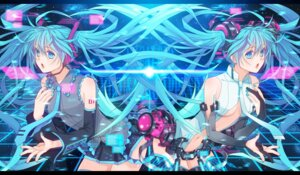 Rating: Safe Score: 11 Tags: hatsune_miku miku_append thighhighs vocaloid vocaloid_append yuuno_(yukioka) User: fireattack