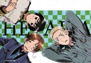 Rating: Safe Score: 5 Tags: crease germany hetalia_axis_powers japan male north_italy scanning_artifacts User: lunalunasan