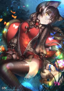 Rating: Safe Score: 74 Tags: animal_ears kyjsogom megane neko stockings thighhighs User: Mr_GT