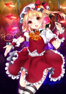 Rating: Safe Score: 36 Tags: flandre_scarlet pointy_ears shanghai_bisu thighhighs touhou wings User: charunetra