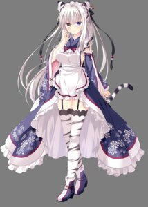 Rating: Questionable Score: 47 Tags: animal_ears heels heterochromia ishikawa_sana maid neko-nin_exheart_3 nekomimi no_bra stockings tail takano_yuki thighhighs transparent_png wa_maid whirlpool User: moonian