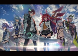 Rating: Questionable Score: 70 Tags: armor digital_version erect_nipples horns naruse_maria naruse_mio no_bra nonaka_kurumi nonaka_yuki ookuma_nekosuke pantsu pointy_ears seifuku shinmai_maou_no_testament sword thighhighs toujou_basara wings zest User: AltY