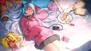 Rating: Safe Score: 10 Tags: animal_ears headphones ihachisu nekomimi User: Mr_GT