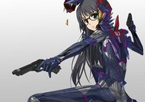 Rating: Safe Score: 42 Tags: asobi_ni_iku_yo! bodysuit futaba_aoi gun kusaka_souji megane User: Kaixa