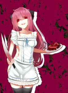 Rating: Questionable Score: 38 Tags: kakei naked_apron sword thighhighs yandere User: fireattack