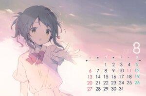 Rating: Safe Score: 15 Tags: calendar kimi_no_na_wa miyamizu_mitsuha seifuku shiratama shiratamaco User: Radioactive