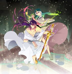 Rating: Safe Score: 6 Tags: ja'far magi_the_labyrinth_of_magic male moshi sinbad sword User: charunetra