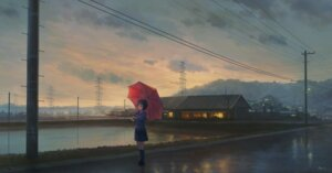 Rating: Safe Score: 40 Tags: feel_(nasitaki) landscape seifuku umbrella User: RyuZU