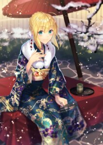 Rating: Safe Score: 42 Tags: fate/stay_night kimono lip-mil saber umbrella User: Mr_GT