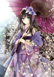 Rating: Safe Score: 68 Tags: fuuten_nozomi kimono umbrella User: Twinsenzw