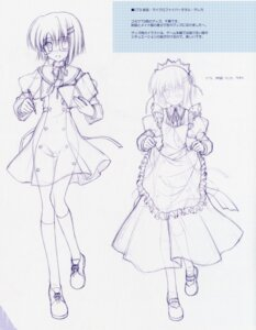 Rating: Questionable Score: 11 Tags: ef_~a_fairytale_of_the_two~ eyepatch maid monochrome nanao_naru see_through seifuku shindou_chihiro sketch User: admin2