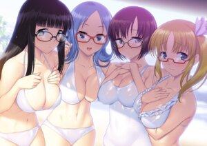 Rating: Questionable Score: 84 Tags: aliasing atago_kinue bikini breast_hold cleavage megane saki sawamura_tomoki senoo_kaori shibuya_takami suzume_inui swimsuits User: blooregardo