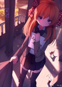 Rating: Safe Score: 66 Tags: gekkan_shoujo_nozaki-kun riki-to sakura_chiyo seifuku thighhighs User: sylver650
