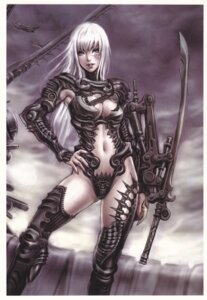 Rating: Safe Score: 37 Tags: armor cleavage sword thighhighs yamashita_shunya User: Radioactive