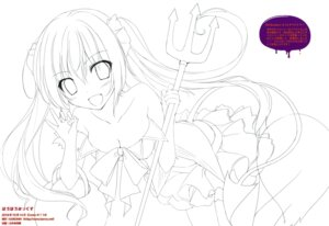 Rating: Questionable Score: 5 Tags: cleavage halloween karomix karory line_art tail thighhighs weapon User: kiyoe