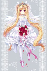 Rating: Safe Score: 46 Tags: dress pantyhose ratise wedding_dress wings User: fairyren