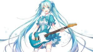 Rating: Safe Score: 46 Tags: 817nono dress hatsune_miku thighhighs vocaloid User: KazukiNanako