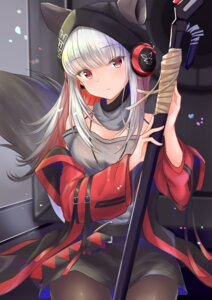 Rating: Safe Score: 15 Tags: animal_ears arknights frostleaf_(arknights) headphones pantyhose tagme tail weapon User: Arsy