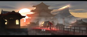 Rating: Safe Score: 26 Tags: baka_(mh6516620) kimono landscape pixiv_fantasia pixiv_fantasia_t seifuku thighhighs umbrella User: Noodoll