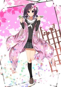 Rating: Safe Score: 43 Tags: hanayamata japanese_clothes near-dog seifuku sekiya_naru User: zero|fade